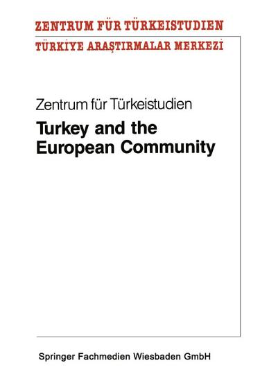 Turkey and the European Community PDF