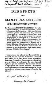 Des effets du climat des Antilles sur le système moteur