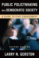 Public Policymaking in a Democratic Society PDF