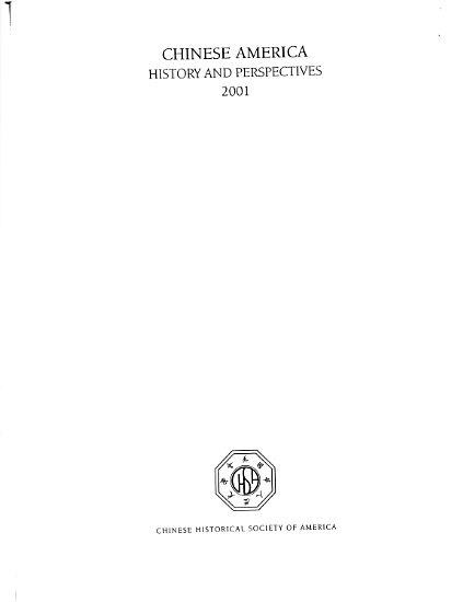 Chinese America  History and Perspectives 2001 PDF
