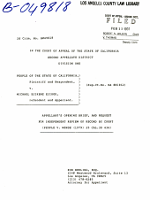 California. Court of Appeal (2nd Appellate District). Records and Briefs: B049818, Appellant's Opening