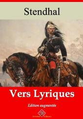 Vers lyriques: Nouvelle édition augmentée