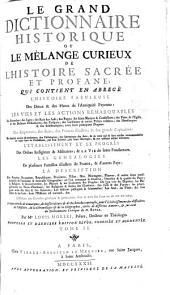 Le grand dictionnaire historique ou Le mélange curieux de l'histoire sacrée et profane...: Volume4