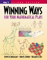 Winning Ways for Your Mathematical Plays PDF