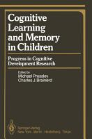 Cognitive Learning and Memory in Children PDF
