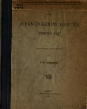 Die Achämenideninschriften zweiter art