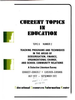 Current Topics in Education PDF