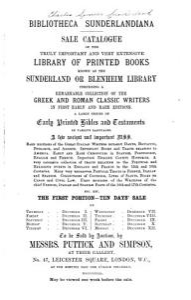 Bibliotheca Sunderlandiana PDF