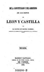 Dela Constitucion y Del Gobierno de los Reinos de Leon y Castilla