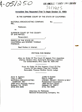 California. Supreme Court. Records and Briefs: S017983, Petition for Review