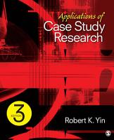 Applications of Case Study Research PDF