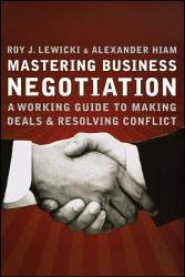 Mastering Business Negotiation Book PDF