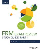 Wiley FRM Exam Review Study Guide 2016 Part I Volume 2 PDF