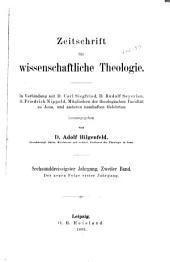 Zeitschrift für wissenschaftliche Theologie: Band 2;Band 36
