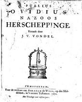 Publius Ovidius Nazoos Herscheppinge