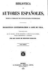 Dramáticos contemporáneos a Lope de Vega: Volumen 43