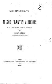 Les manuscrits du musée Plantin-Moretus: catalogues de 1592 et de 1650