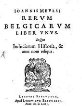 Rerum Belgicarum liber unus