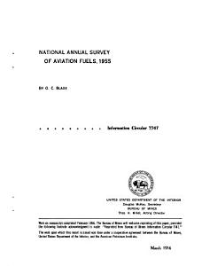 National Annual Survey of Aviation Fuels