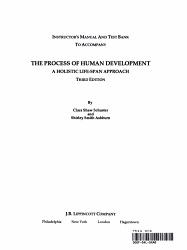 Instructor s Manual and Test Bank to Accompany the Process of Human Development PDF