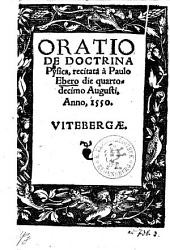 Oratio De Doctrina Physica