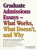 Graduate Admissions Essays