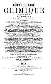 Nutrition de la plante