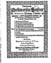 Rosenkranz dessen erster Stifter Dominicus Prediger Ordens in welchem 10 stück abgehandelt werden: Von Wirkung des Gebetts, von sieben Bitt des Vater Unsers ...