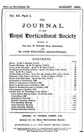 Journal of the Royal Horticultural Society: Volume 20