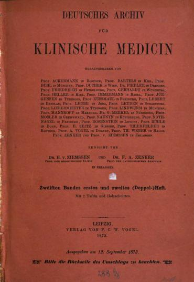 Deutsches Archiv f  r klinische Medizin PDF