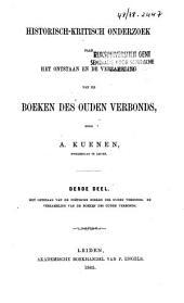 Historisch-kritisch onderzoek naar het ontstaan en de verzameling van de Boeken des Ouden Verbonds: Volume 3