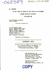 California. Court of Appeal (2nd Appellate District). Records and Briefs: B068589, Respondent Brief