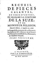 Recueil de pieces galantes: en prose et en vers, Volume3