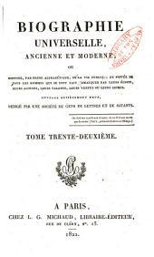 Biographie universelle, ancienne et moderne: Volume32
