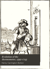 Evolution of the thermometer, 1592-1743