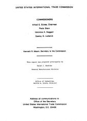 A competitive assessment of the U.S. video game industry: report on investigation no. 332-160 under section 332(b) of the Tariff Act of 1930