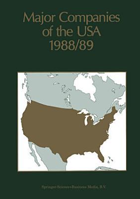 Major Companies of the USA 1988 89