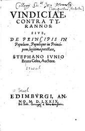 Vindiciae contra tyrannos: sive de principis in populum, populique in principem legitima potestate