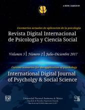 Revista Digital Internacional de Psicología y Ciencia Social   Vol. 3   Num. 2   2017: Escenarios actuales de aplicación de la psicología