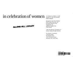 In celebration of women PDF