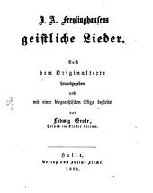 J. A. Freylinghausens geistliche Lieder