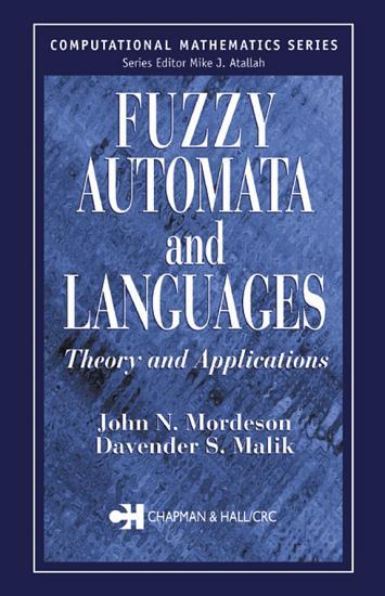 Fuzzy Automata and Languages PDF