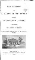 First Supplement to the Catalogue of Books Belonging to the Loganian Library PDF