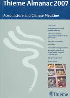 Thieme Almanac 2007  Acupuncture and Chinese Medicine PDF