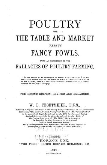Poultry for the Table and Market PDF