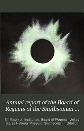 Report of the Board of Regents: Volume 69