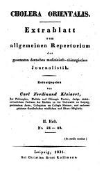 Cholera orientalis PDF