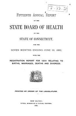 Annual Report of the State Board of Health of the State of Connecticut PDF