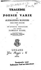 Tragedie e poesie varie di Alessandro Manzoni