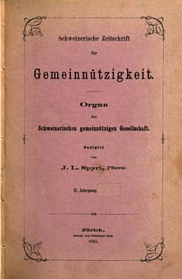 Schweizerische Zeitschrift f  r Gemeinn  tzigkeit PDF
